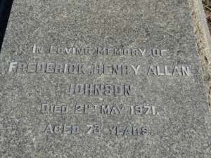 JOHNSON  FREDERICK  HENRY  ALLAN  ANGLICAN  F- 495