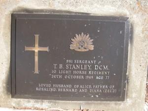 STANLEY  T B (DCM)   ANGLICAN   B278